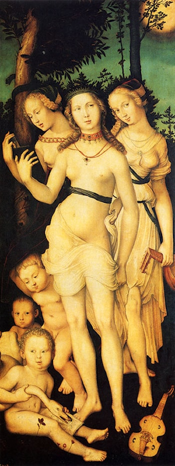 Harmony Of The Three Graces by Hans Baldung