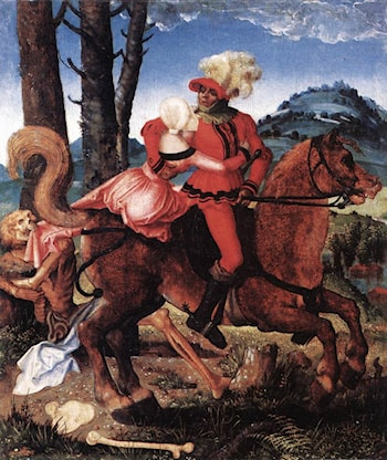 The Knight, the Young Girl, and Death by Hans Baldung