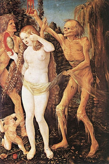 Three Ages of the Woman and the Death by Hans Baldung