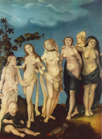 The Seven Ages of Woman by Hans Baldung
