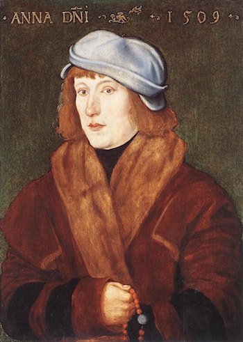 Portrait of a Young Man with a Rosary by Hans Baldung