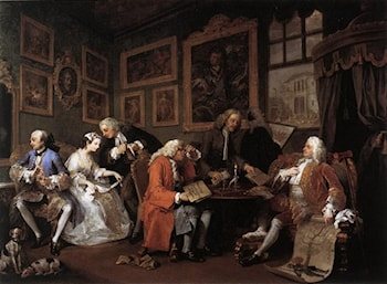 Marriage à la Mode: 1. The Marriage Settlement by William Hogarth