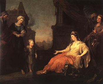 Moses Brought Before Pharaoh's Daughter by William Hogarth