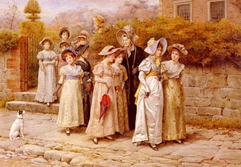 Miss Pinkertons Academy by George Goodwin Kilburne