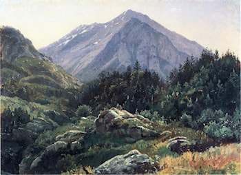 Mountain Scenery, Switzerland by William Stanley Haseltine