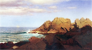 Rocks at Nahant by William Stanley Haseltine