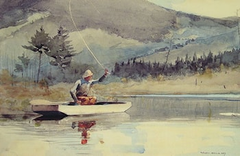 A Quiet Pool on a Sunny Day by Winslow Homer