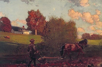 The Last Furrow by Winslow Homer