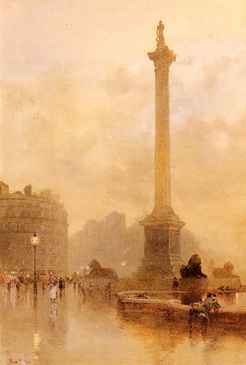 Nelson's Column In A Fog by Rose Barton