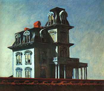 House by the Railroad by Edward Hopper