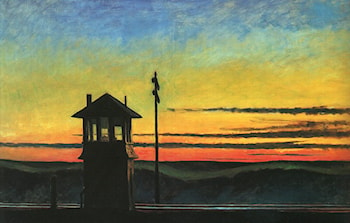 Railroad Sunset by Edward Hopper