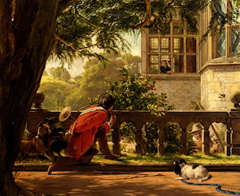 A Hunting Morning by John Callcott Horsley
