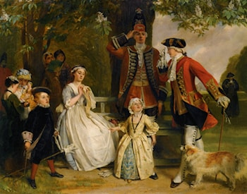 The Unwilling Salute by John Callcott Horsley