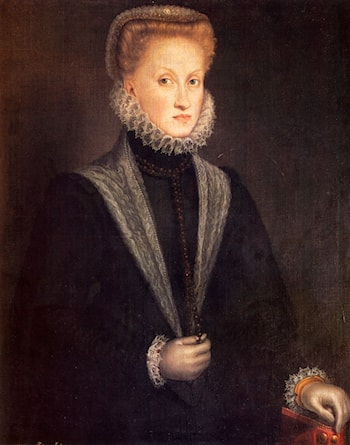 Anne Of Austria, Queen Of Spain by Sofonisba Anguissola