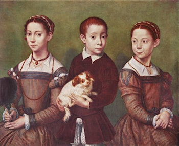 Three Children with Dog by Sofonisba Anguissola