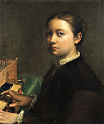 Self Portrait Playing the Spinet by Sofonisba Anguissola