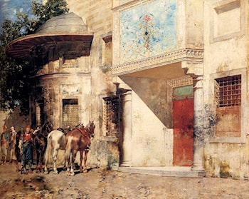 Outside The Mosque by Alberto Pasini