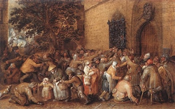 Distribution of Loaves to the Poor by David Vinckbooms