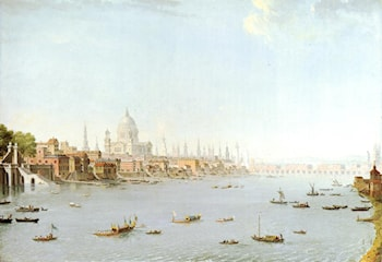 The Thames Looking Towards The City by Antonio Joli