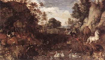 The Garden of Eden by Roelandt Jacobsz Savery