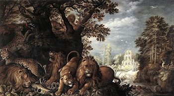 Landscape with Wild Animals by Roelandt Jacobsz Savery