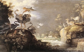 Landscape with Animals by Roelandt Jacobsz Savery