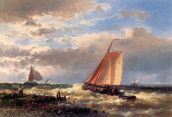A Choppy Estuary by Abraham Hulk Snr