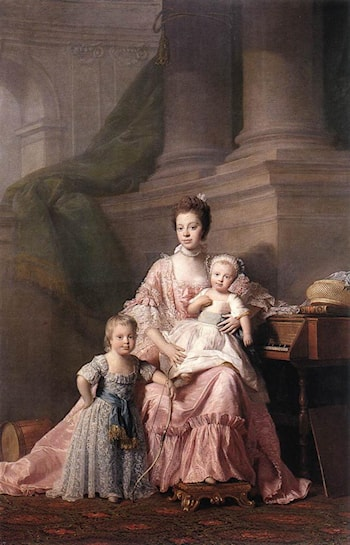 Queen Charlotte with her Two Children by Allan Ramsay