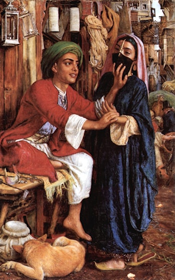 Cairo Street Scene:  The Lantern Maker's Courtship by William Holman Hunt