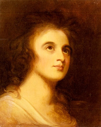 Portrait of Emma Hamilton by George Romney