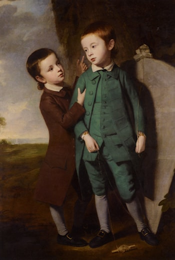 Portrait of Two Boys with a Kite by George Romney