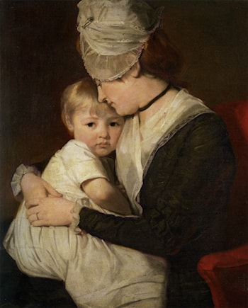 Portrait of Mrs Anne Carwardine and her Eldest Son Thomas by George Romney