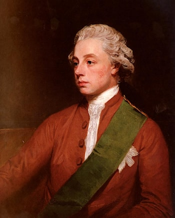 Portrait Of Frederick, 5th Earl Of Carlisle by George Romney