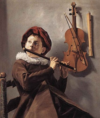 Young Flute Player by Judith Leyster