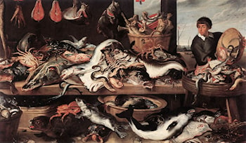 Fishmonger's by Frans Snyders