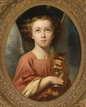 An Angel Holding a Chalice by Charles Zacharie Landelle