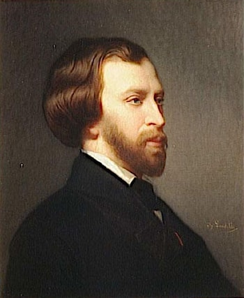 Alfred de Musset (1810­1857) by Charles Zacharie Landelle
