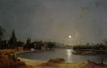 The Thames at Moonlight, Twickenham by Henry Pether