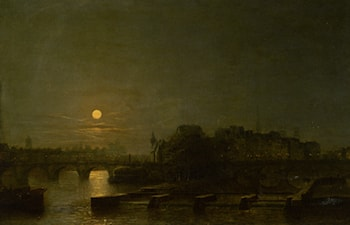 Moonlight Over the Seine by Henry Pether