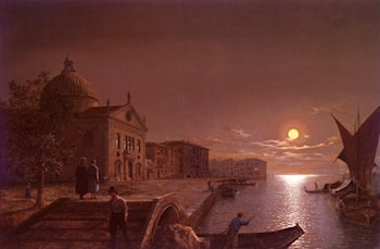 Moonlight In Venice by Henry Pether