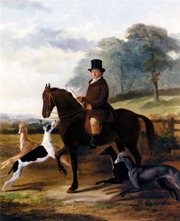 Mr. Gilpin On His Favorite Hack With Greyhounds by William Henry Knight