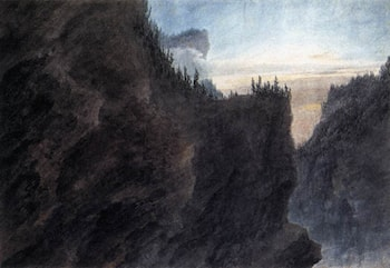 Entrance to the Valley of Grande Chartreuse in Dauphiné by John Robert Cozens