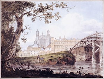 Eton College from Datchet Road by Thomas Girtin