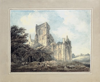 Kirkstall Abbey, Yorkshire, from the South­East (after James Moore) by Thomas Girtin