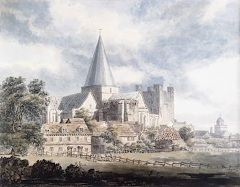 Rochester Cathedral and Castle, from the North­East by Thomas Girtin