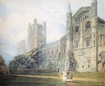 Ely Cathedral from the South­East (after James Moore) by Thomas Girtin