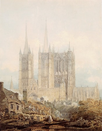 Lincoln Cathedral from the West by Thomas Girtin