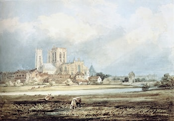 York Minster from the South­East, with Layerthorpe Bridge by Thomas Girtin