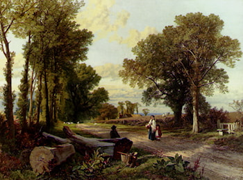 A Wayside Conversation by Frederick William Hulme