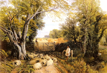 Landscape in Wales by Frederick William Hulme